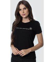 t-shirt daniela cristina gola u 01 602dc10276 preto - preto - pp - feminino