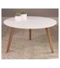 mesa de centro 36x70cm 24601 linha complementos branco pes claro artesano