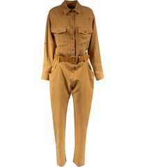 federica tosi belted long jumpsuit