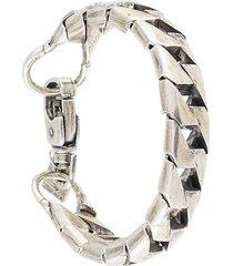 goti oversized chain bracelet - silver