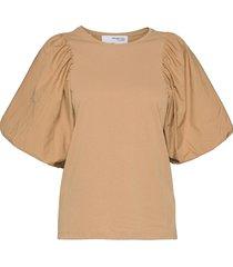 slfadrianna 2/4 tee blouses short-sleeved beige selected femme