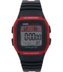 reloj negro-rojo casio