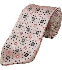 gravata concetto seda semi slim rosado - rosa - masculino - dafiti