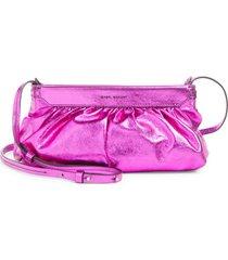 isabel marant luzes metallic leather crossbody - pink