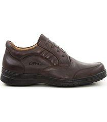 zapatos de amarrar casuales  marrón caprino