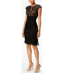 b & a by betsy & adam ruched lace sheath dress