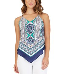 bcx juniors' bandana-print top