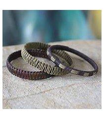 bangle bracelets, 'fulani multicolor treasure' (set of 3) (ghana)