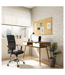 cadeira de escritório diretor giratória wrigley com braços preta