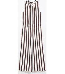 loft striped smocked jumpsuit