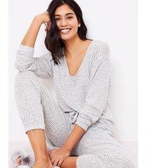 loft cozy v-neck pajama top