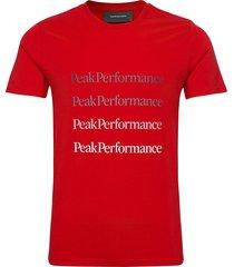 m ground tee 2 white t-shirts short-sleeved röd peak performance