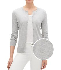 chaleco cardigan mujer gris gap