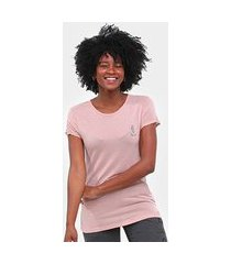 camiseta roxy vintage in the mirrors long feminina