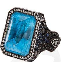 sevan biçakçi 24kt gold diamond dolphin ring