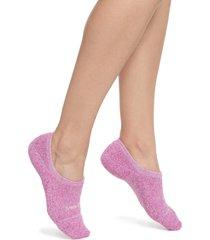 women's bombas marled cushioned no-show socks, size medium - pink