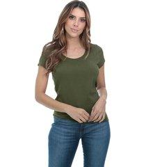 blusa cotton javali verde militar