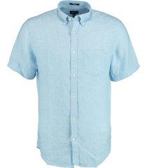 gant overhemd linnen blauw rf 3012421/468
