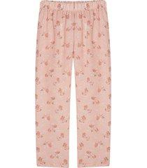 pantalón para mujer flores pequeñas color rosado, talla l