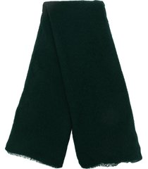 botto giuseppe lightweight cashmere scarf - green