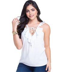 blusa adulto femenino blanco marketing  personal