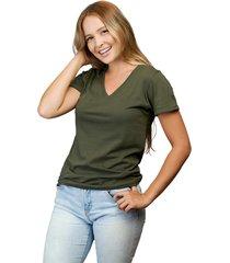 camiseta militar luck & load cuello v mujer