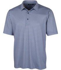 cutter & buck men's pike zig zag print polo shirt