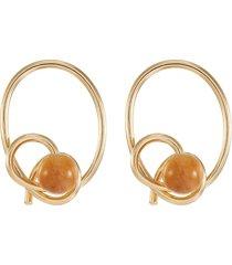 'the revel' pine wood earrings