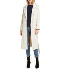 women's helene berman ruth belted wrap coat, size large - ivory