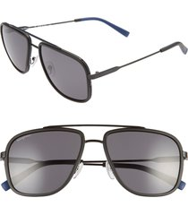 men's salvatore ferragamo 57mm navigator sunglasses -
