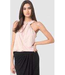 blusa de estilo sofisticado rosado esprit
