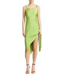 giselle fringe stretch-silk slip dress