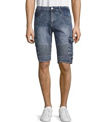 moto denim cargo shorts