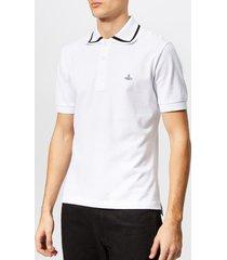 vivienne westwood men's pique polo shirt - white - xxl - white