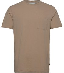 brenon linen t-shirt t-shirts short-sleeved brun les deux