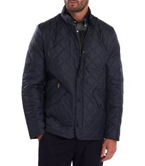 men's barbour flyweight chelsea quilted jacket, size x-large - blue
