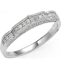 taj 18k white gold & diamond midi ring