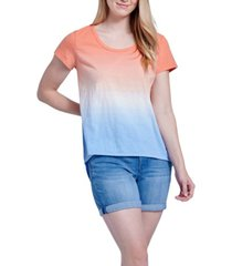 seven7 tie dye scooped relaxed tee