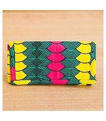 cotton wallet, 'ntoma colors' (ghana)