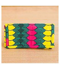 cotton wallet, 'ntoma colors' (ghana)