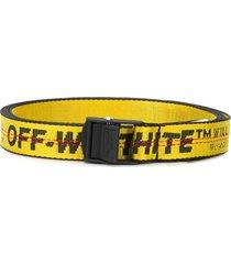 off-white mini industrial belt yellow black