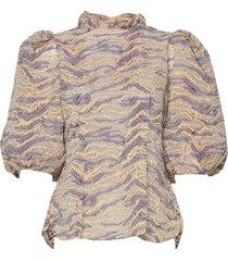 addie blouses short-sleeved paars stella nova