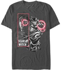 marvel men's comic collection the scarlet witch blast short sleeve t-shirt