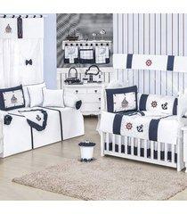 quarto completo padroeira baby barquinho azul marinho