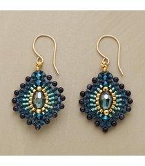 blue plume earrings