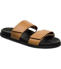 route strap sandal shoes summer shoes flat sandals brun royal republiq