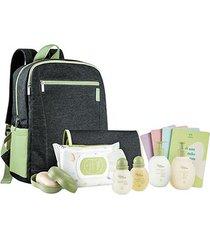 conjunto natura papai e bebê com mochila