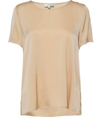 bloomie silk blouse blouses short-sleeved beige andiata