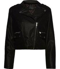 frances jacket läderjacka skinnjacka svart guess jeans
