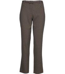 angelie 524 pantalon met rechte pijpen bruin fiveunits